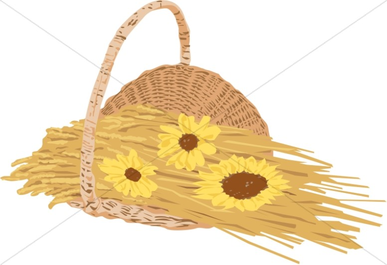 Wheat and Sunflower Basket