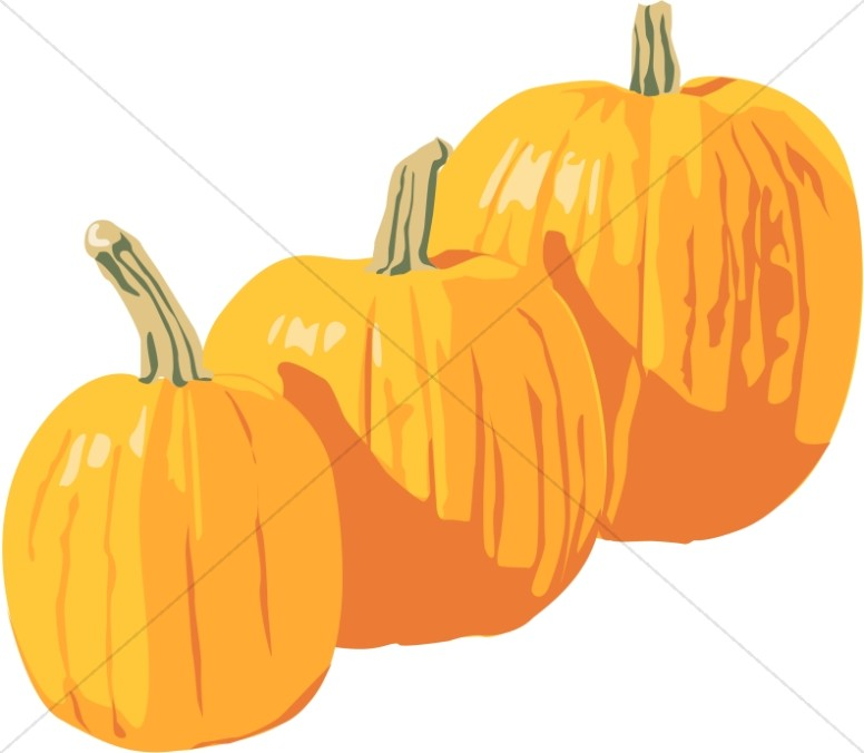 Three Bright Pumpkins