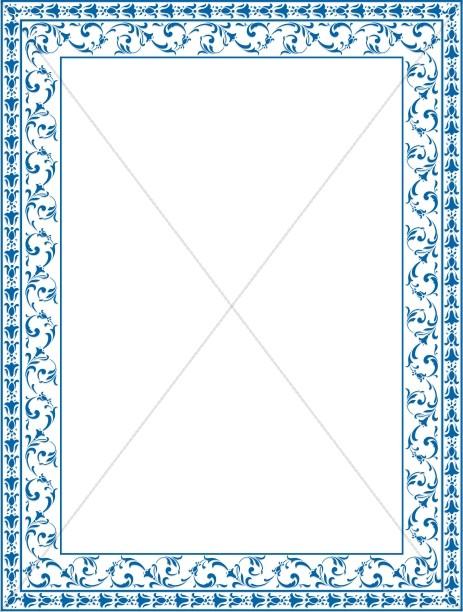 Blue Victorian Swirls