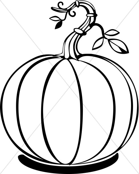 Simple Pumpkin with Vines