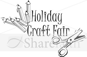 Holiday Craft Fair Word Art