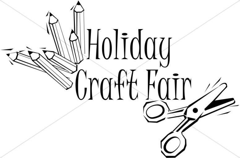 Holiday Craft Fair Word Art