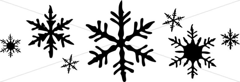 Line of Snowflakes