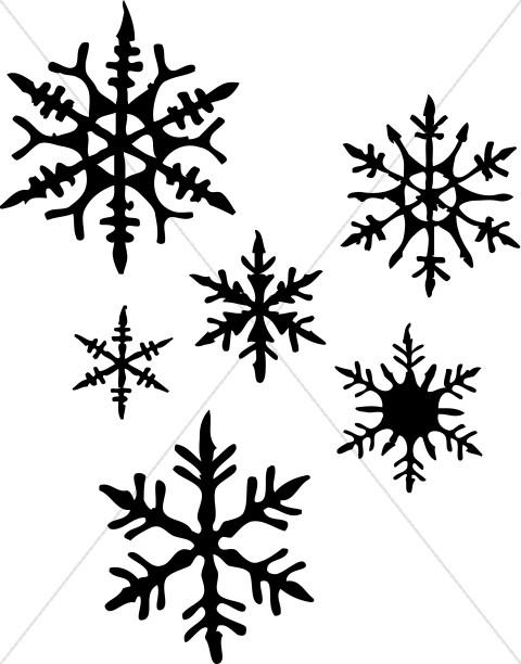 Black Snowflakes Silhouette
