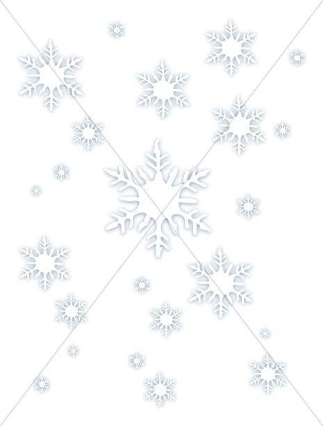 Multiple Falling Snowflakes