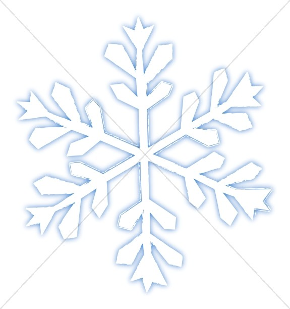 Large Blue and White Snowflake