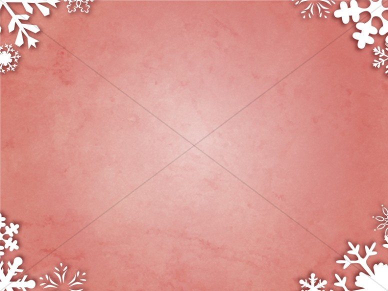 Antique Red and Snowy Corners
