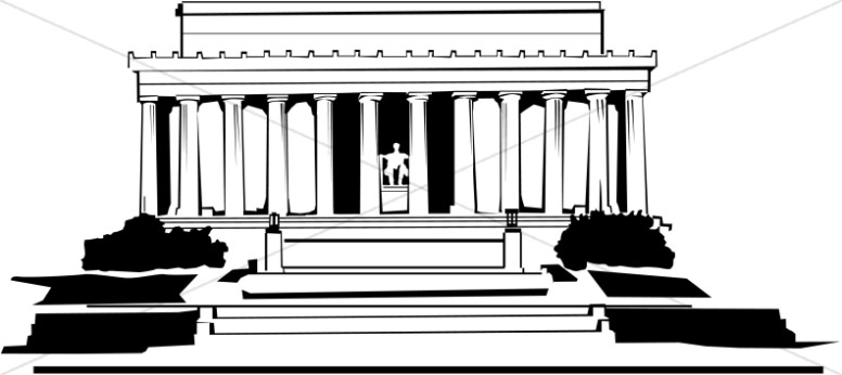 Lincoln Memorial | Christian Classroom Clipart