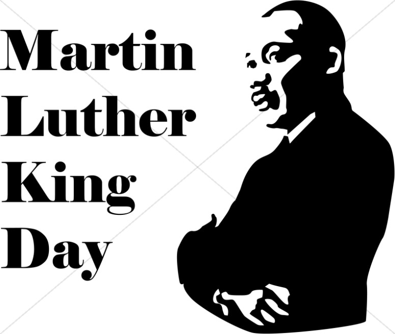 Black History Month Program Cover | Martin Luther King Clipart