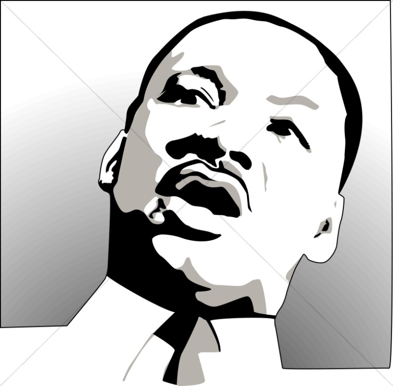 Martin Luther King in Shades of Gray