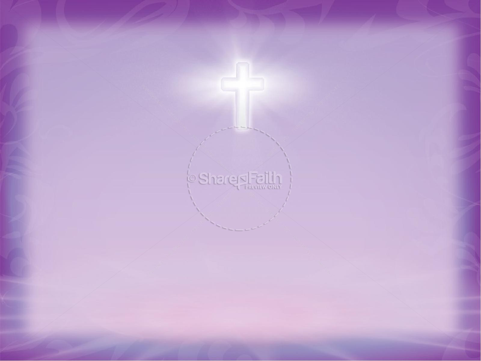 Prayer Circle in Purple with Radiant Cross