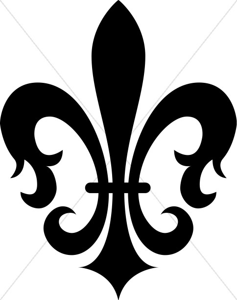 Black Decorative Fleur de lis