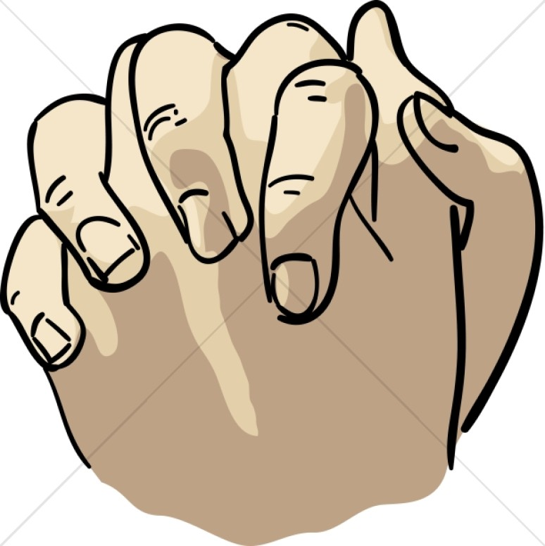 praying hands in flesh tones | prayer clipart