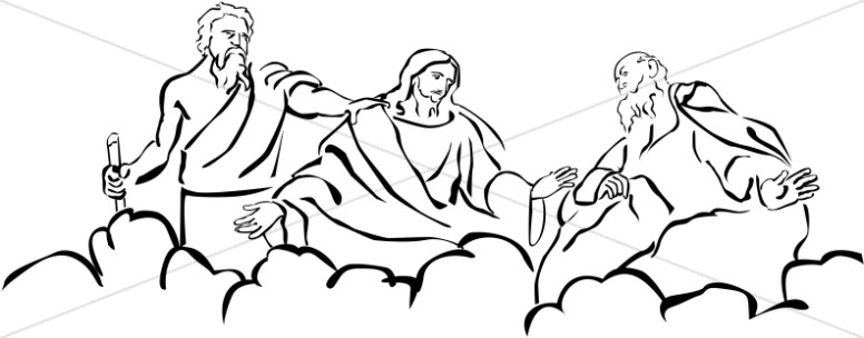 Moses and Elijah with Jesus at Transfiguration