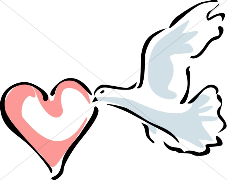 Dove Carrying a Heart