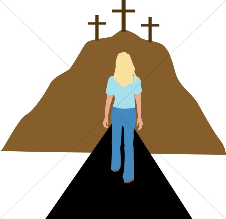 Woman Walking Towards Repentance