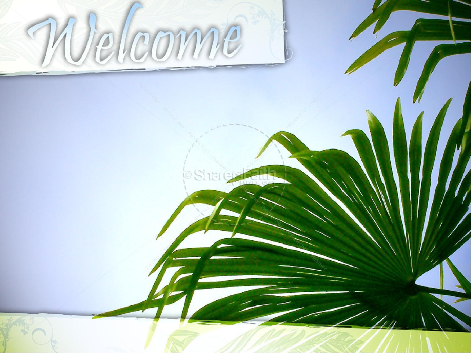 Palm Sunday with Blue Sky | slide 2