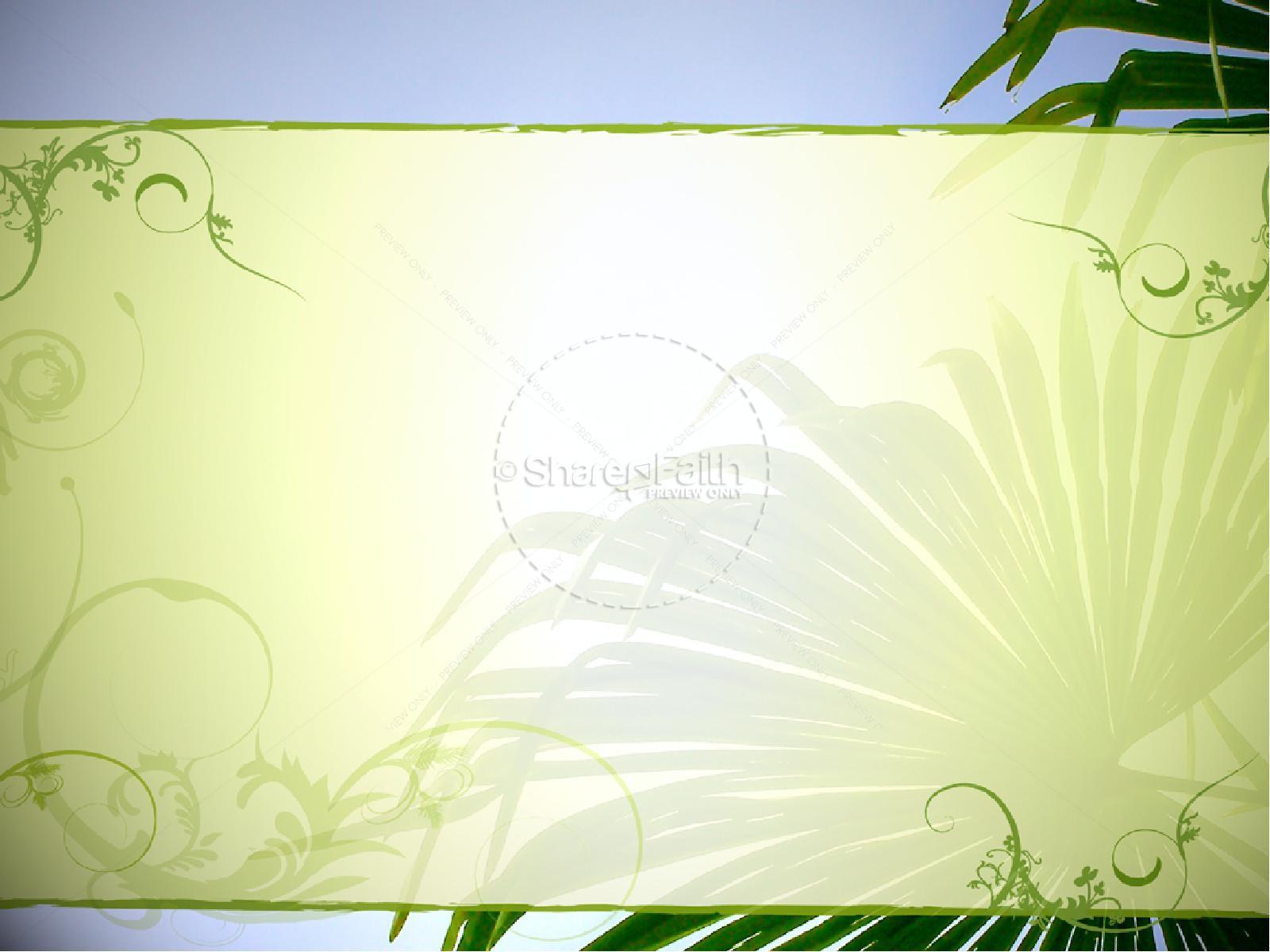 Palm Sunday with Blue Sky   slide 4