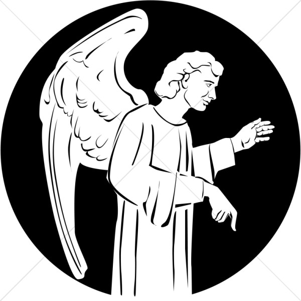 Clipart of Angel with Wings