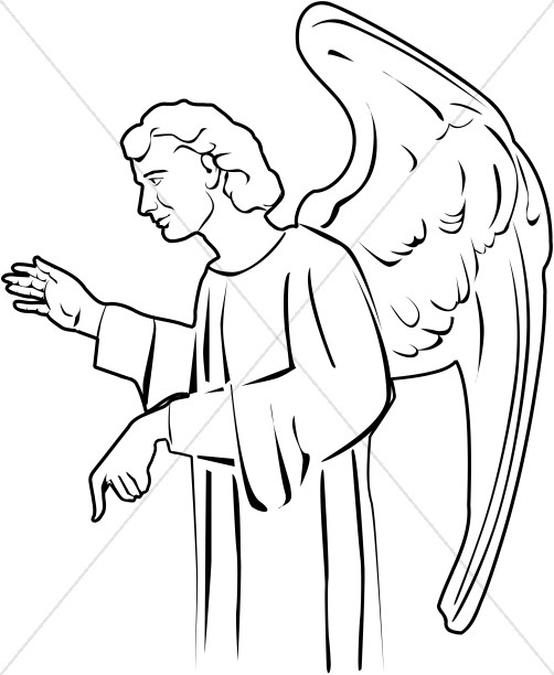 Speaking Angel Clipart for Churches