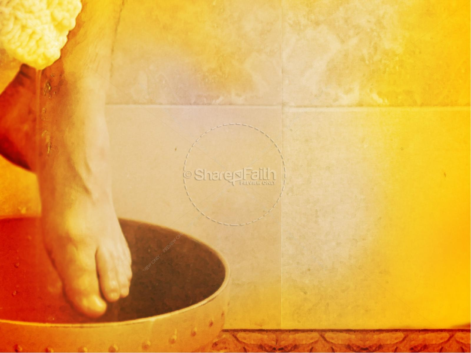 jesus the servant washes feet easter sunday resurrection powerpoints