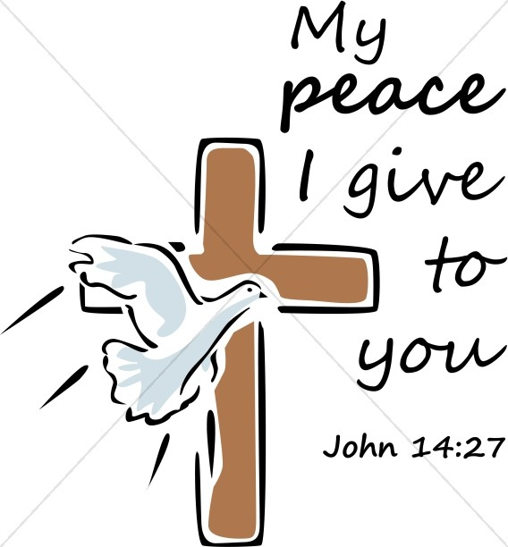 Peace I Give To You with Dove and Cross