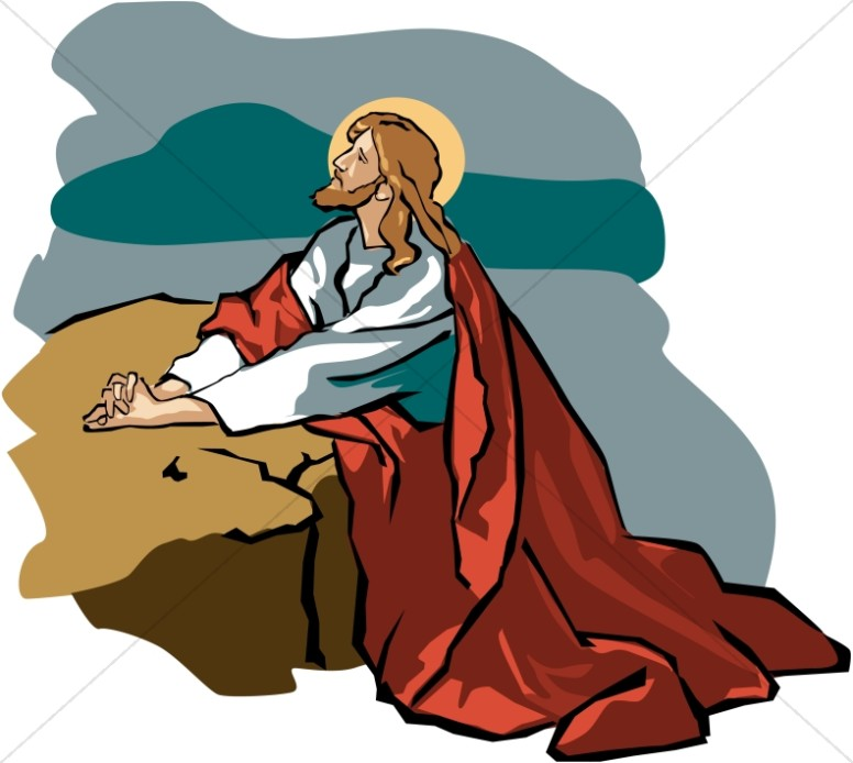jesus in gethsemane with red robe jesus clipart rh sharefaith com jesus clip art black and white jesus clipart images