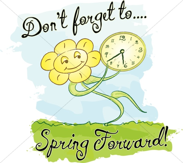 Spring Forward with Words and Happy Flower