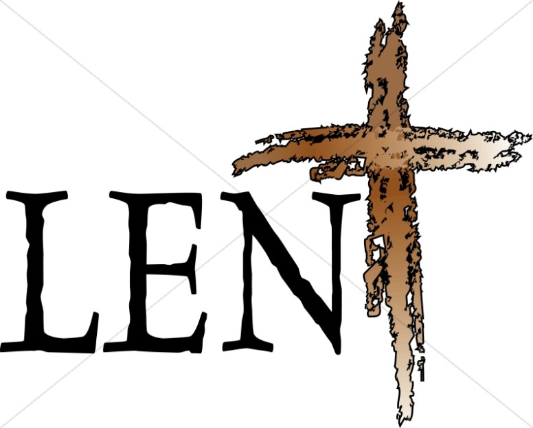 Lent with Rough Wooden Cross