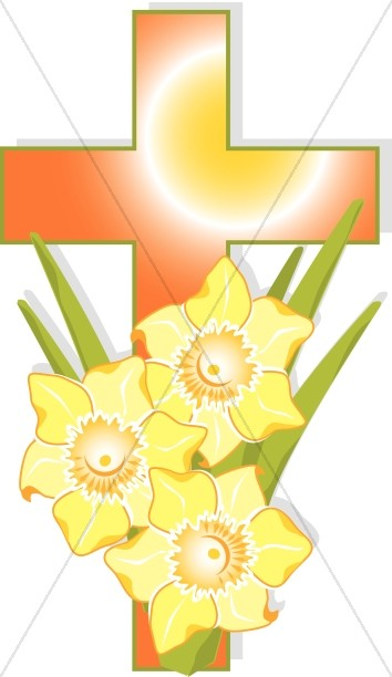 Orange Cross with Yellow Flowers