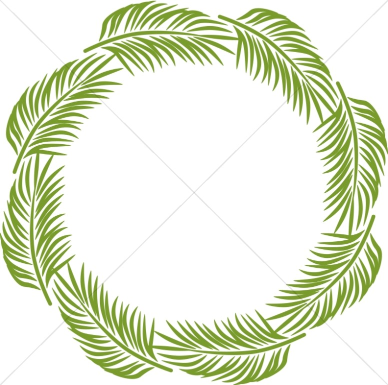 Palm Circle | Palm Sunday Clipart