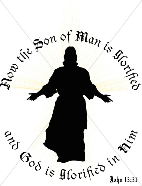 Jesus in Silhouette with Verse