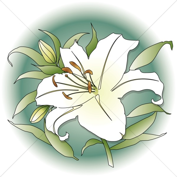 Church Flower Clipart, Church Flower Image, Church Flowers