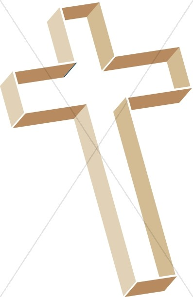 Multilevel Cross in Shades of Brown
