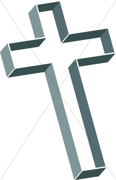 Multilevel Cross in Green and Gray