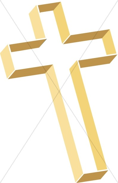 Multilevel Cross with Gold