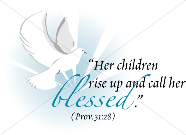 Dove with Proverbs Verse about Moms