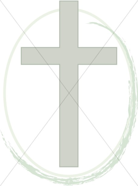 Cross with Brushstroke Wave