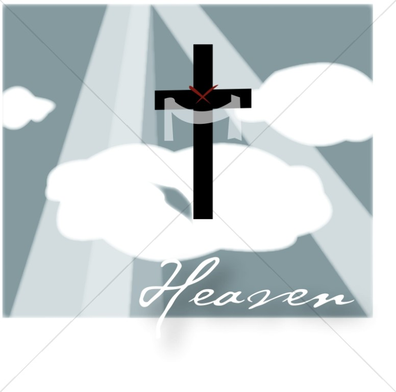 Heaven with Clouds and Cross