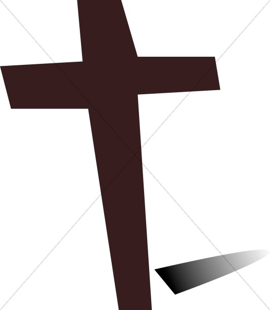 Dark Brown Cross and Shadow