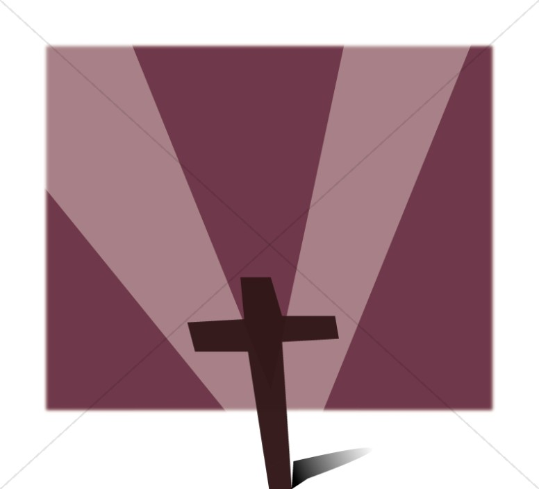Brown Cross with Magenta Rays