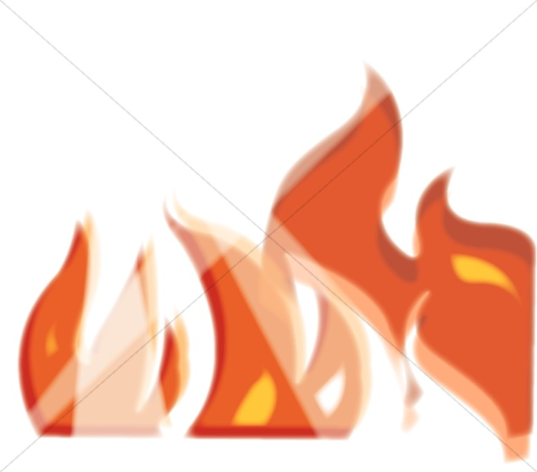 Flames of Orange and Gold