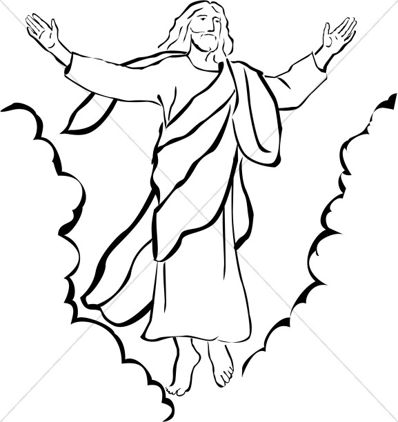 Ascension of Our Lord Christian Clipart