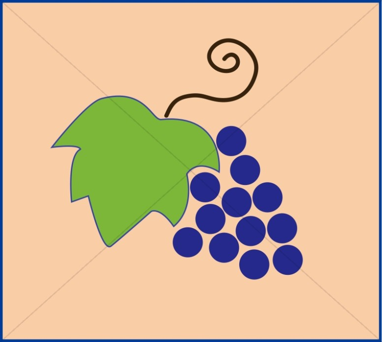 Grapes and Leaf in a Box