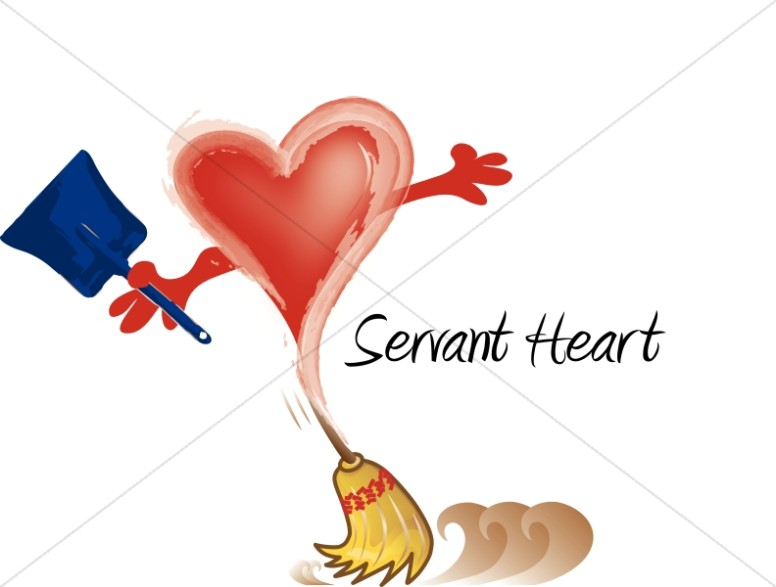 Servant Heart with Broom