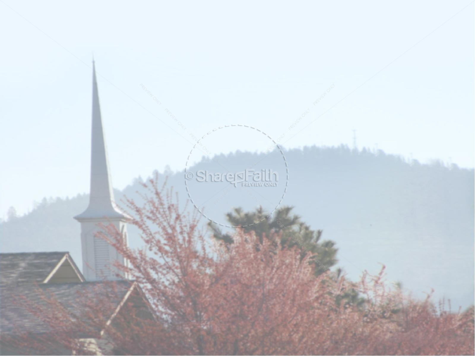 Gathered and Church Steeple