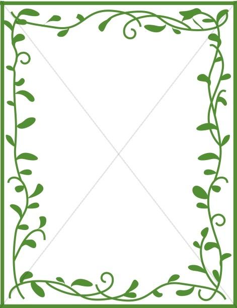 Green Leafy Border