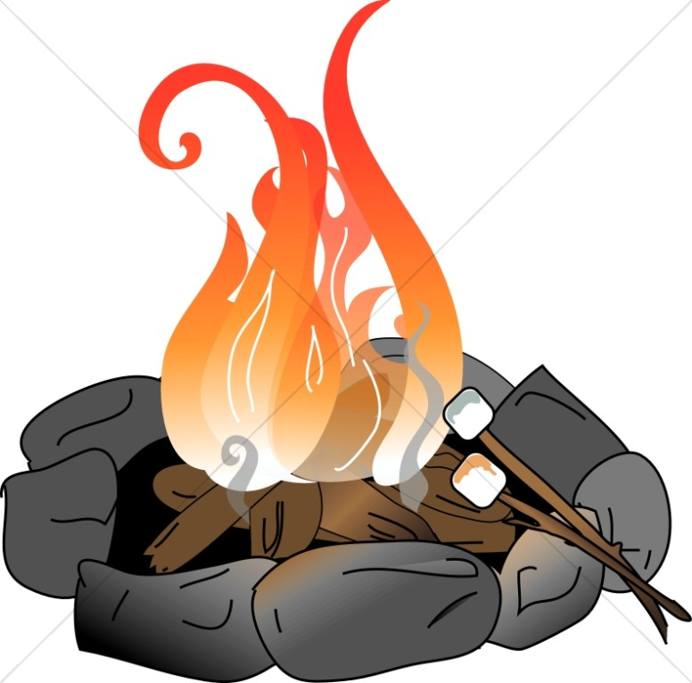 free clip art fire pit - photo #4