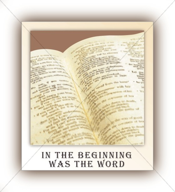 Open Bible and In the Beginning