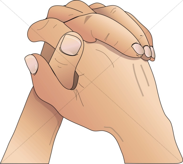 Youthful Praying Hands | Youth Program Clipart